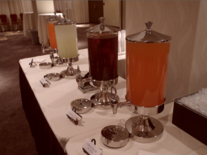 Refreshments in the Commons Hotel